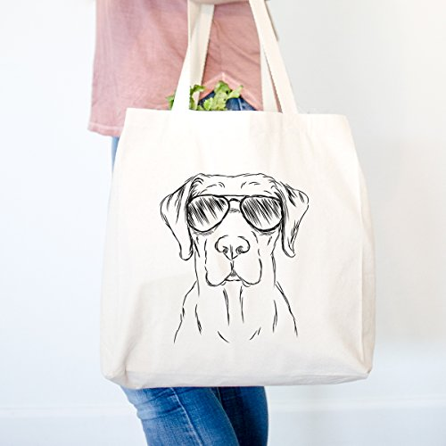 Rowdy the Golden Retriever Heavy Duty 100% Cotton Canvas Tote Shopping Reusable Grocery Bag 14.75 x 14.75 x 5