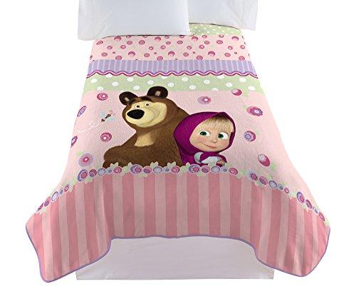 Animacord Masha & the Bear Berry Good Microraschel Blanket