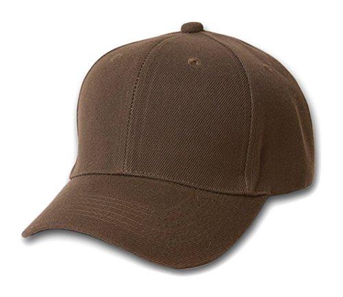 TOP HEADWEAR Baseball Cap Hat- (Brown Ball Cap)