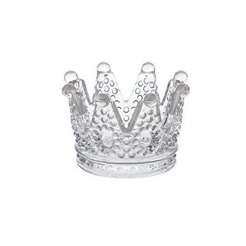 Mega Crafts - Crown Glassware Votive Tea Light Candle Holder, Clear - Set of 12