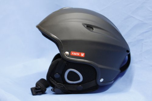 Vcan Ski Snowboard Snow Helmet Black / Large 59-60CM, Outdoor Stuffs