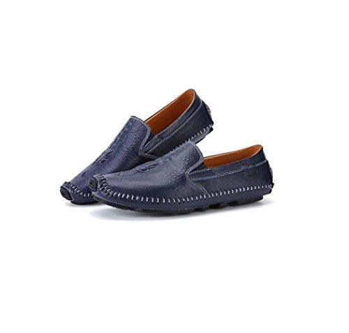 zmlsc Hommes Occasionnels Chaussures Business Ruban Souple Rond Pointu Printemps Automne Eté Hiver Couleur Toile Sports Blue p1R3Q698