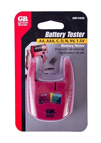 Household Battery Tester : Gardner bender gbt household analog battery tester