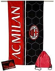 Ręcznik plażowy Sport Milan rozmiar cm 70 x 140 oryginalny A.C. Milan