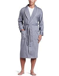 Men's Long Sleeve Lightweight Cotton Woven Robe