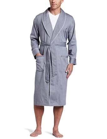 Nautica Men's Captains Herringbone Woven Robe, Anthracite, Small/Medium