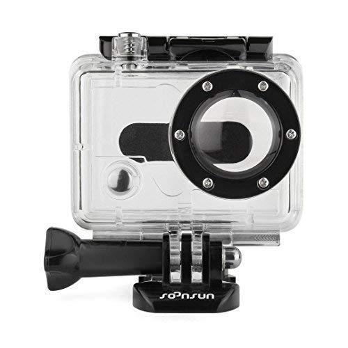 SOONSUN Replacement Underwater Waterproof Housing Case for GoPro HD Hero 1 and Go Pro HD Hero 2 Camera