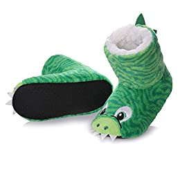 Image of Colorful Animal Boot Slippers for Kids
