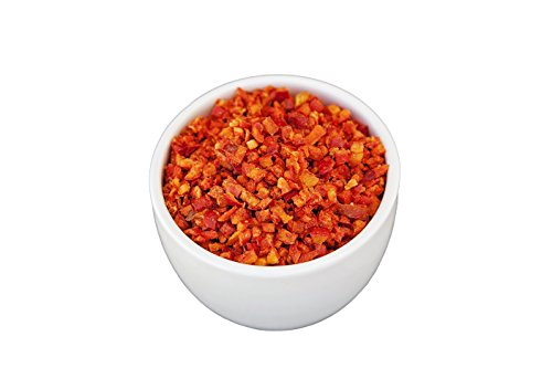 Freeze Dried Fruits and Vegetables - Healthy Fruit and Veggie Snacks - Perfect For Camping, Emergency Preparedness, And Snacking - By Valley Food Storage (3.5 Cups) (Red Bel Pepper Dices) -