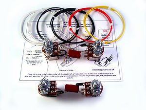 41N2ElABVcL les paul 500k wiring harness full push pull pots red baron caps les paul wiring harness push pull at highcare.asia