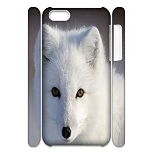LJF phone case C-Y-F-CASE DIY Design Cute Fox Pattern Phone Case For iphone 4/4s