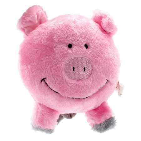 ZippyPaws Brainey Squeaky Plush Dog Toy, Pig