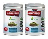 Blood Pressure Supplement Natural - Alfalfa Grass Powder - Organic Dietary Supplement - Alfalfa Leaf Vitamins - 2 Cans 16 OZ (112 Servings)