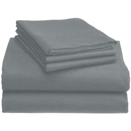 MARRIKAS HEAVYWEIGHT 6 OZ. GERMAN FLANNEL DUVET COVER SET KING GREY by Marrikas (Image #1)