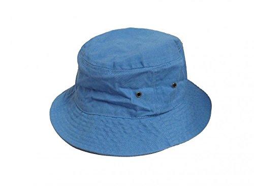 Easy-W Sky Blue 100% Cotton Hat Cap Bucket Boonie Unisex by Easy-W