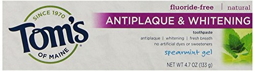 Tom's of Maine Toothpaste Antiplaque Whitening Gel Spearmint 5.5 Oz (Pack of 6) by Tom's of Maine
