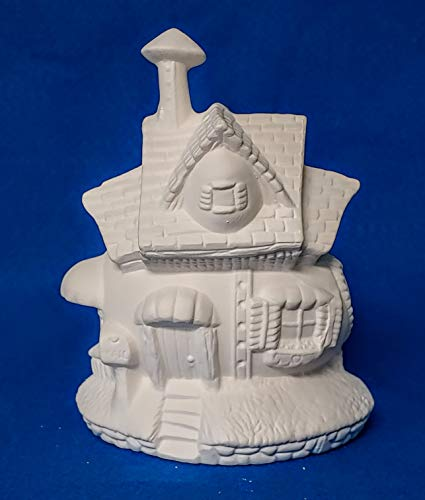 Fairy Egg Shaped House #2 unpainted ceramic bisque ready to be painted Village