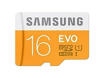 Samsung MB-MP16DA/AMZ - Tarjeta de memoria micro SD EVO de 16 GB con adaptador SD, Paquete abrefácil