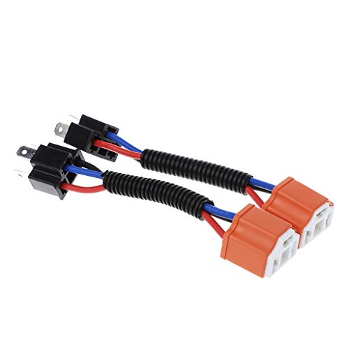 Connector 2Pcs H4 9003 Ceramic Wire Harness Plug Cable Headlights Connector Extension New: Kitchen & Home
