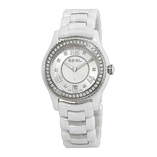 Ebel X-1 Ceramic Diamond 34mm Watch - White Dial, Ceramic Bracelet 1216130