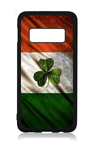 (Flag Ireland Waving Irish Flag Shamrock Design Black Rubber Case Cover for The Samsung Galaxy s10e (s10 Edge) - Samsung Galaxy s10e Accessories - Samsung Galaxy s10e Case)