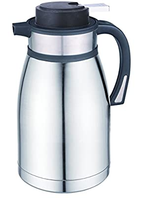 Coox 2.5L Premium Stainless Steel Thermal Carafe Jug - Unbreakable Double Wall Vacuum Insulated Pot for Hot & Cold Drinks