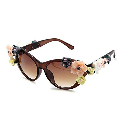 Retro Sexy 2 Sol de Marca Gafas Playa Gafas ZHANGYUSEN la de Verano Sol Gafas 5 Flower de en Joyas qTwRCxn