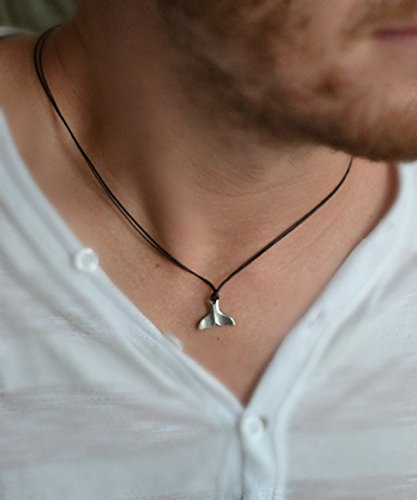 Whale Tail Pendants Amazon whale tail necklace for men mens necklace with a whale tail necklace for men mens necklace with a silver plated whale tail pendant and audiocablefo