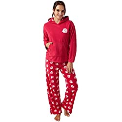 Ladies Fleece Magenta Hedgehog Pajamas