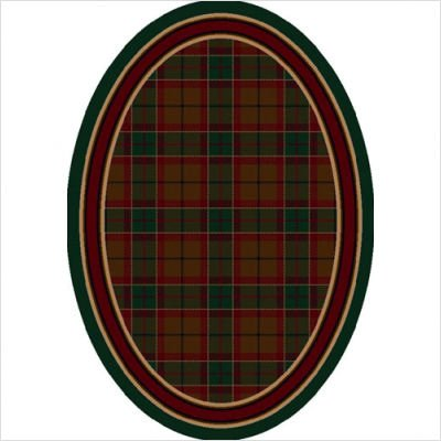 Signature Magee Tartan Emerald Oval Rug Size: Oval 5'4