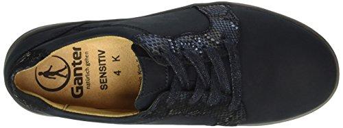 Ganter Sensitiv Klara, Weite K, Zapatos de Cordones Derby para Mujer Azul - Blau (navy / ocean 3130)