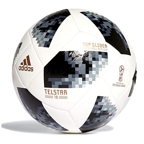 - adidas FIFA World Cup Glider Ball White/Black/Silver Metallic, 5