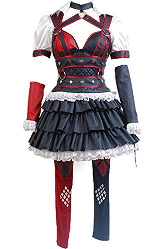 Wecos Arkham Knight Harley Quinn Dress Costume (Harley Quinn Costume Arkham Knight)
