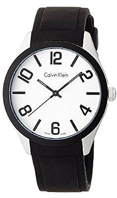 Calvin Klein K5E51CB2 Silicone Mens Watch - White Dial