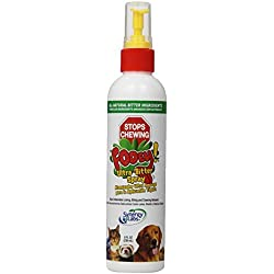 SynergyLabs Fooey! Ultra Bitter Spray No Chewing Spray 8 fl. oz. for Dogs Cats Horses Forrets Rabbits and Birds