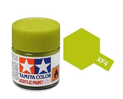 Tamiya 81704 - Pintura Acrílica Mini, Mate Verde Pistacho Frasco de 10 ml, XF-4