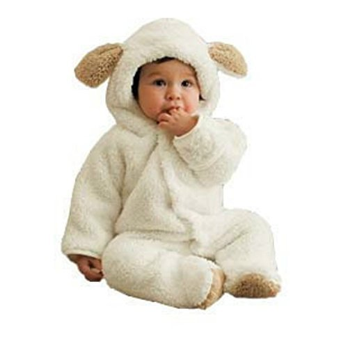 Fleece Infant Romper - Luckyauction Baby Toddler Winter Cute Bear Fleece Romper White