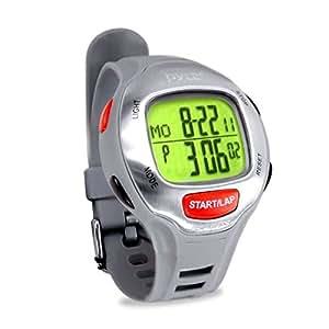 Pyle Reloj Deportivo para maratones con Time Target Setting, Alertas, Memoria cronografica. Color: Gris