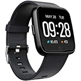 Smart Watch Waterproof Multisport Fitness Tracker for Women Men Activity Tracker with Heart Rate Blood Pressure Sleep Monitor Pedometer Wearable Wristband for Holiday Birthday Gifts (Black)