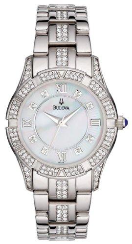 Bulova Women's 96L116 Swarovski Crystal Stainless Steel Watch
