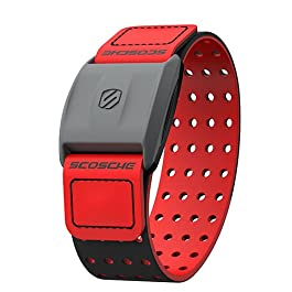 Scosche Rhythm+ Heart Rate Monitor Armband – Optical Heart Rate Armband Monitor with Dual Band Radio ANT+ and Bluetooth Smart