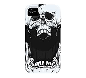 Agent Skully iPhone 4/4s Alice blue Tough Phone Case - Design By Humans