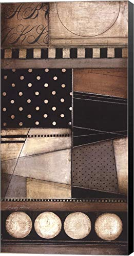 Fancy Letters I by Kimberly Poloson Canvas Art Wall Picture, Museum Wrapped with Black Sides, 18 x 36 inches