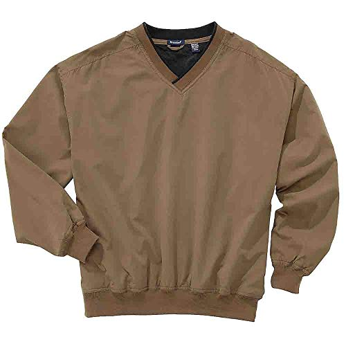 (Rivers' End Mens Lined Microfiber Windshirt Outerwear Brown)