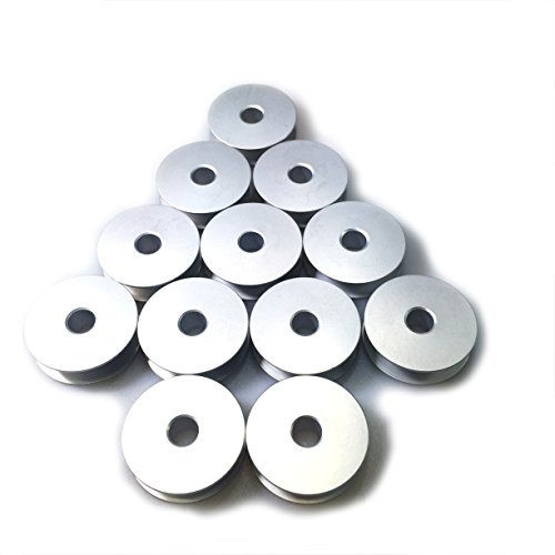 Cutex Brand 12 Large M Size Aluminum Bobbins for TIN Lizzie 18 Quilting Machines