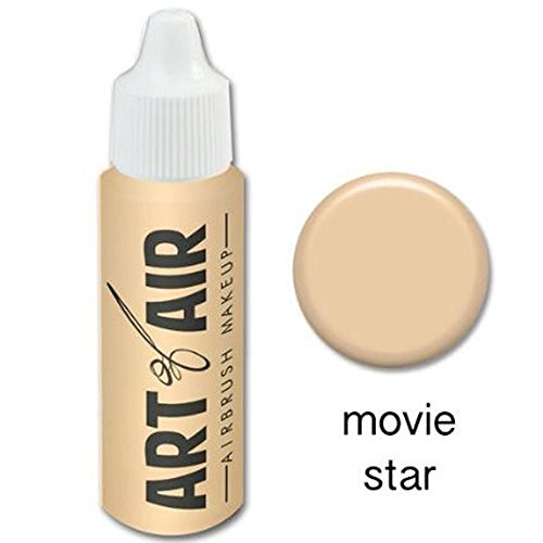Art of Air Airbrush Makeup - Foundation 1/2oz Bottle Choose Color (1/2 oz Movie Star) (Airbrush Foundation)