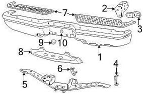 Genuine Ford 9L3Z-17B807-B Bumper Step Pad Cover