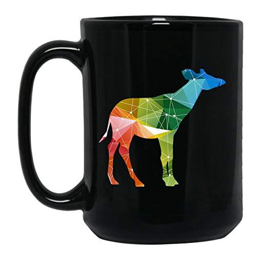 Okapi Colorful Mug, Coffee Mug, Black Mug 15 oz