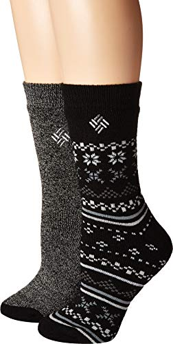 (Columbia Midweight Fair Isle Thermal 2-Pack Black 9-11 (US Women's))