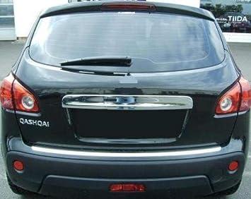QASHQAI J10 cubierta de acero inoxidable cromada para maletero trasero con sensor trasero: Amazon.es: Coche y moto